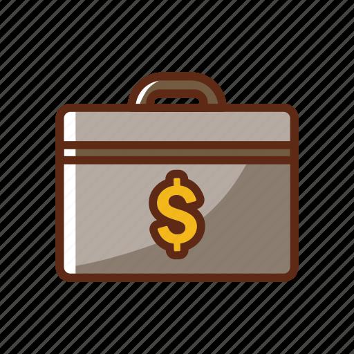 bank, case, dollar, finance, guardar, money, safe, save icon