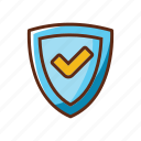 assurance, finance, protect, save, shield icon