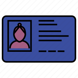 business, card, certification, driver's license, passport, payment icon