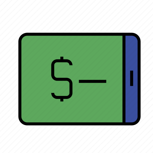 analytics, business, cash, currency, mobile, money, phone icon