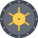 bank, business, economy, finance, money, vault icon