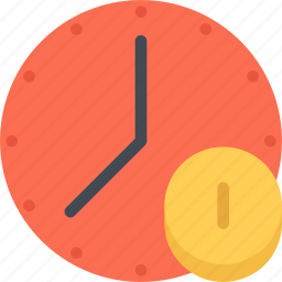 business, economy, finance, money, time icon