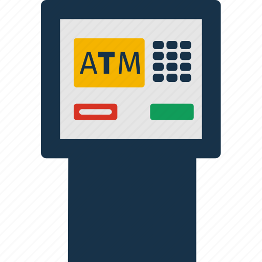 atm, cash, currency, finance, machine, money icon