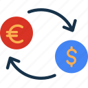 cash, currency, dollar, euro, exchange, finance, money icon