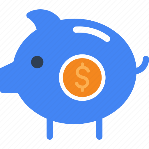 bank, cash, currency, finance, money, piggy icon