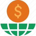 cash, currency, doller, finance, global, money icon