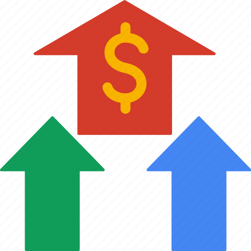 cash, currency, finance, increase, money icon