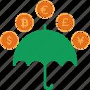 cash, currency, finance, money, rain icon
