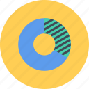business, businessman, chart, donut, economy, finance, money icon