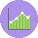 business, businessman, chart, economy, finance, line, money icon