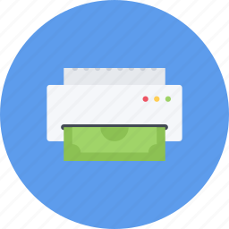 business, businessman, economy, finance, money, printing icon