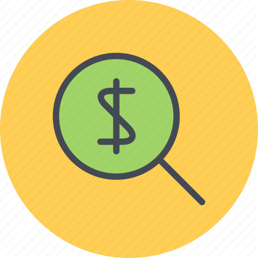 business, businessman, economy, finance, money, search icon