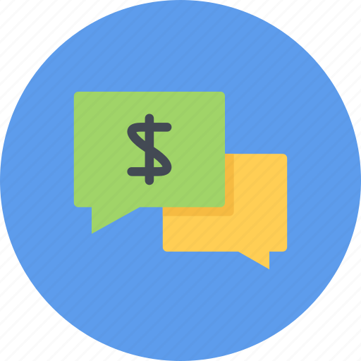business, businessman, economy, finance, money, talk icon