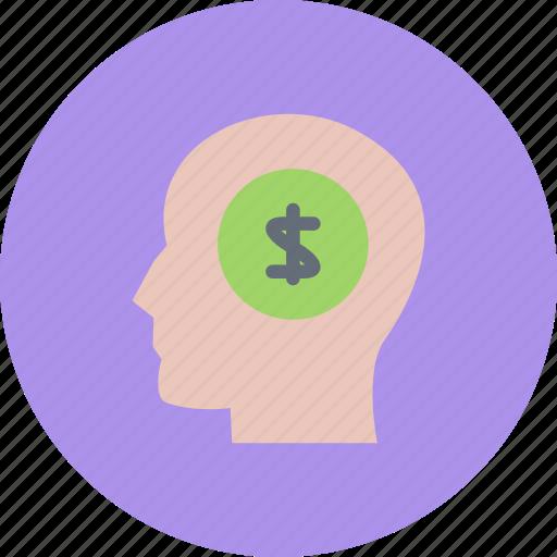 business, businessman, economy, finance, money, thinking icon