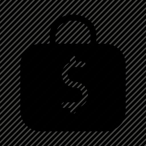 cash, dollar, exchequer, finance, lock, money, protect icon