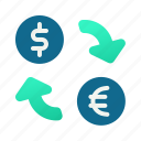 rate, convertion, exchange, currency icon