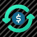money, flow, turnover icon
