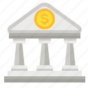 bank, building, finance, money