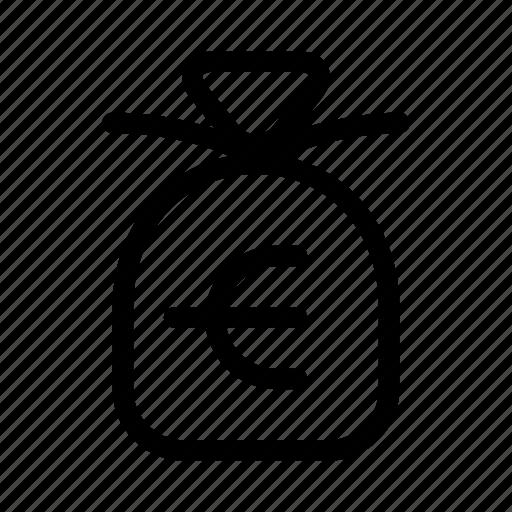 bag, cash, euro, exchequer icon