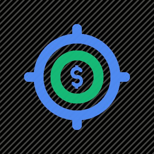 aim, focus, market, target icon