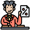 deduction, payment, percentage, taxes icon