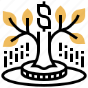 earning, financial, growth, investment, profit icon
