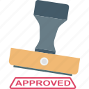accept, stamp, verified, authorized, approved