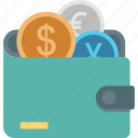 purse, billfold wallet, card holder, coin wallet, wallet icon