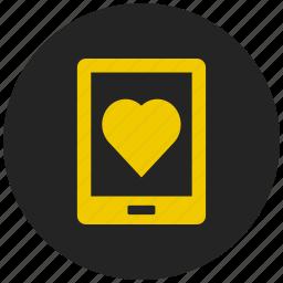 favorite app, favorite mobile, heart, love, mobile phone, valentine message icon
