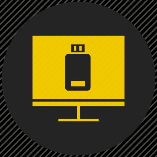 data transfer, memory, pendrive, storage, technology, television, usb icon