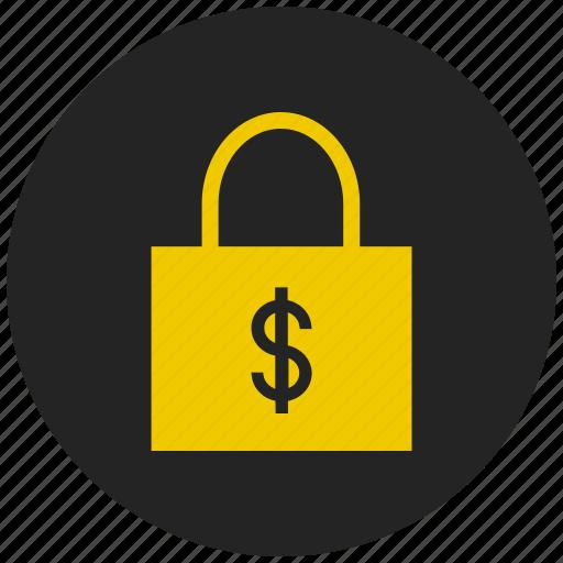 bank, cash, currency, dollar, finance, money, safety locker icon