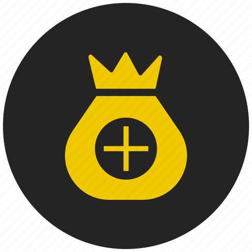 add amount, add money, coin bag, collect money, savings, wallet icon