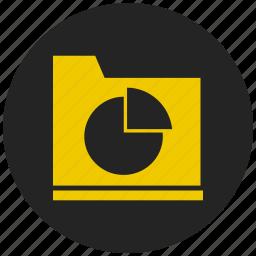 analytics, evaluation, pie chart, pie graph, report, section, statistics icon