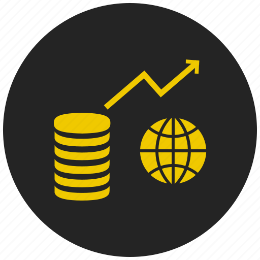 curremcy, economics, finance, global market, international business, money, share market icon