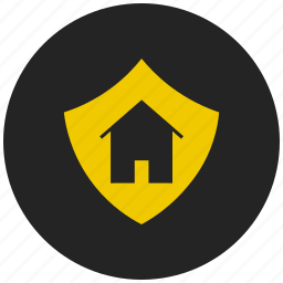 building, home, homepage, protected home, protected property, safe home, sheild icon