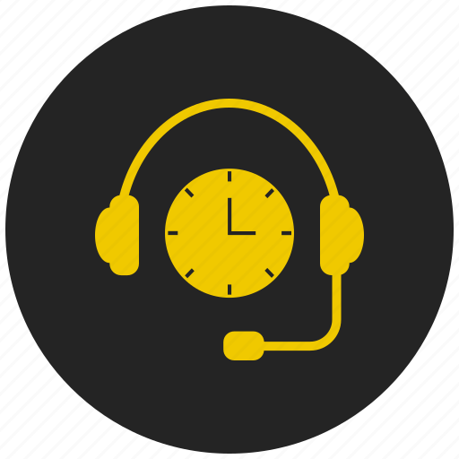 alarm, headset, helpdesk, reminder, support, time, timer icon
