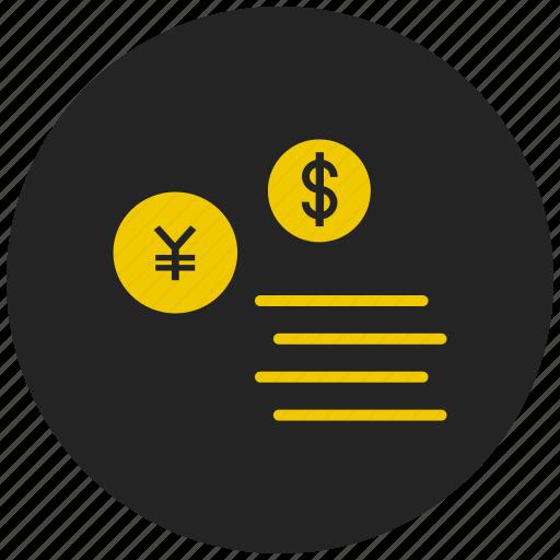 american dollar, currency conversion, dollar, euro, japanese yen, money exchange, yen icon