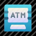 atm, machine, debit, bank icon