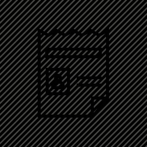 file, info, information, invitation, notice, notice board, resume icon