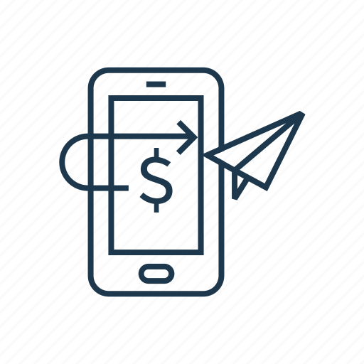 app, ebanking, finance, mobile banking, mobile payment, online banking, online payment, send money, transfer icon