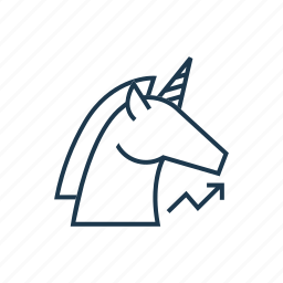 business, dollar, million, startup, unicorn, valuation icon