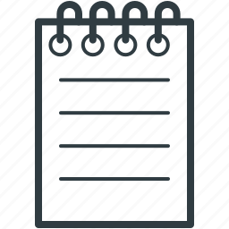 document, lead pencil, note, paper, write icon