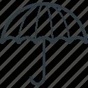 rain protection, canopy, parasol, umbrella, sunshade icon