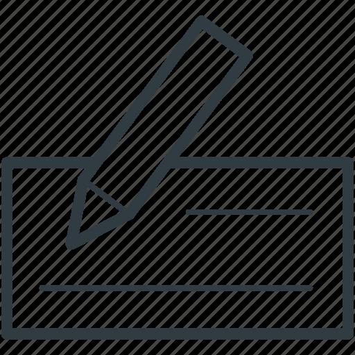 businessman, cheque, payment, receipt, voucher icon