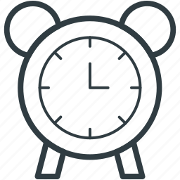 alarm clock, clock, timepiece, timer, watch icon