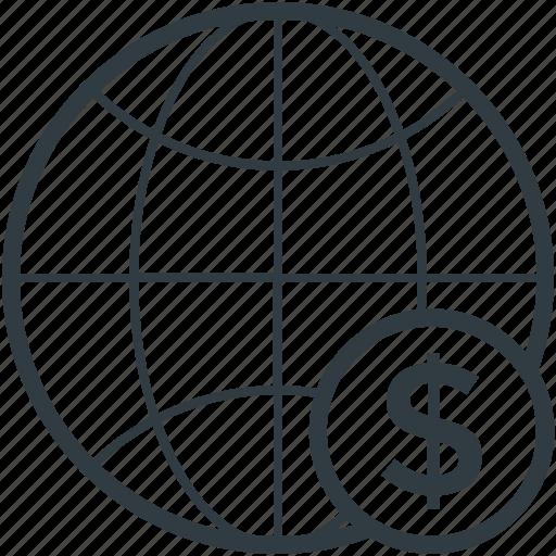 globe, internet grid, planet, world map, worldwide icon