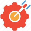 aim, business, dart, target icon