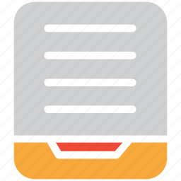document, file, file paper, page icon
