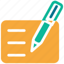 doc, document, pen, write icon