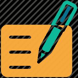 doc, document, pen, write icon